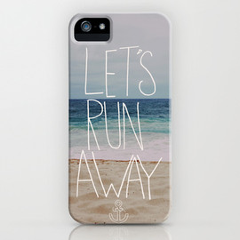 Society6 - Let's Run Away III iPhone Case by Leah Flores