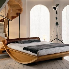 Mazzali - Wooden Gondola Bed
