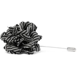 Lanvin - Striped Wool Flower Lapel Pin