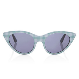 OPENING CEREMONY - Opening Ceremony Cat Eye Sunglasses In Seafom Gingham