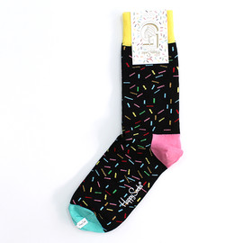 Happy Socks - Happy Socks 5th Anniversary Sprinkles Socks - ブラック