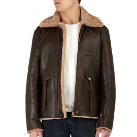acne - brown sheepskin flight jacket ACNE BROWN SHEEPSKIN LEATHER JACKET | MY WARDROBE 50% SALE
