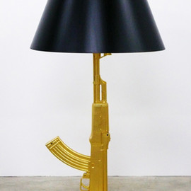"""FLOS - """"Gun Collection"""" Table Gun, Prototype Edition 13, Signed, Designed by Phillip Starck, 2004"""