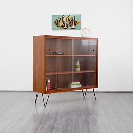 ? - 1960s cabinet, teak with hairpin legs