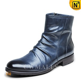 CWMALLS - CWMALLS® Mens Leather Dress Ankle Boots CW726505