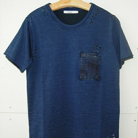 Bicester - INDIGO DAMAGED TEE