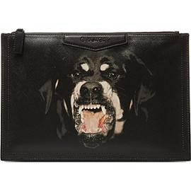 GIVENCHY by Riccardo Tisci - Medium rottweiler leather pouch (Multi