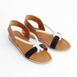 Reality Studio - August Sandal - Black/Cognac