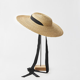 mature ha. - 4mm braid straw hat middle
