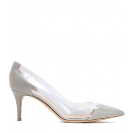 GIANVITO ROSSI - Leather and transparent pumps
