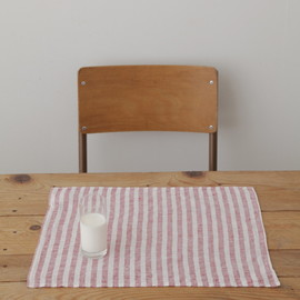fog linen work - Image of Placemat: Red White Stripe