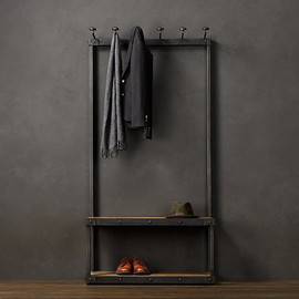 restorationhardware - Coat Rack Bench 3'