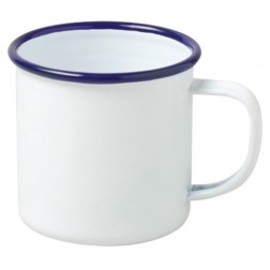 Falcon - MUG, White with Blue Rim