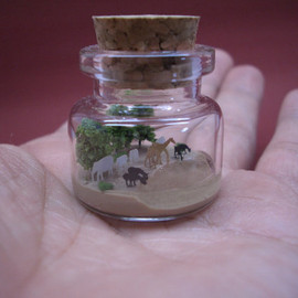 tiny world in a bottle - a tiny bottle