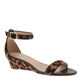 J.CREW - COLLECTION LILLIAN CALF HAIR LOW WEDGES