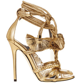 Brian Atwood - gold sandals | Brian Atwood