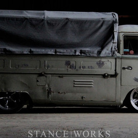 VW - type 2 bus slammed canvas  by Type2Detectives