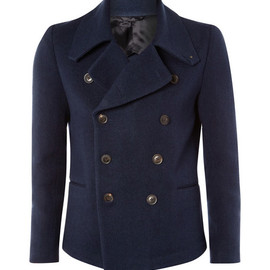 Paul Smith - Navy Cotton Peacoat