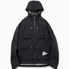 and wander - e vent dropping pocket rain jacket