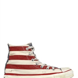 CONVERSE - USA FLAG DISTRESSED CANVAS HIGH SNEAKERS