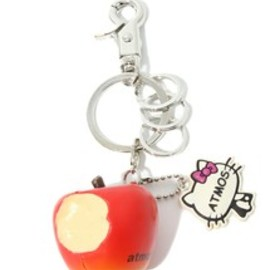 atmos - atmos goods(アトモスグッズ)のatmos × HELLO KITTY APPLE KEY HOLDER(キーホルダー)|レッド