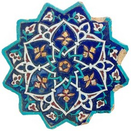Islamic art  Iran, about 1444. Museum no. C.747-1909 - Star-shaped tile
