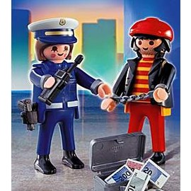 PLAYMOBIL - 4269 police with thief