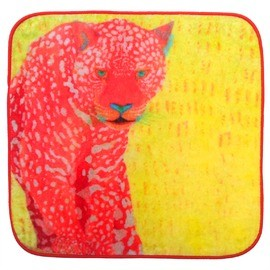 Fujiyoshi Brother's Collection - Happy Animals Hand Towel Red Leopard Panther