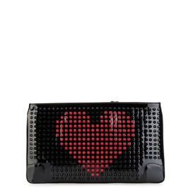 Christian Louboutin - Loubiposh patent-leather spike pouch