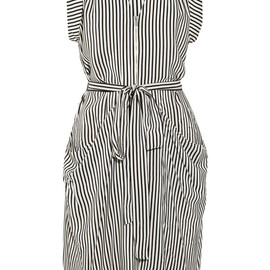 BCBGMAXAZRIA - Draped striped silk dress