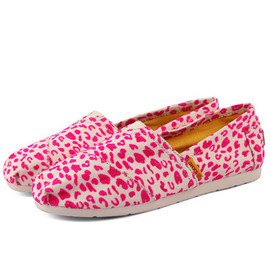 Trendy Leopard Print Slip On Canvas Flats Loafers Slippers