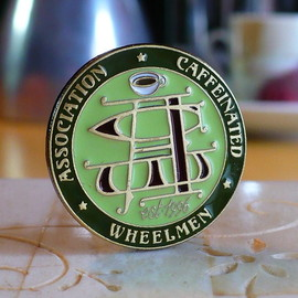 BRAD CLICK - Association of Caffeinated Wheelmen lapel pin