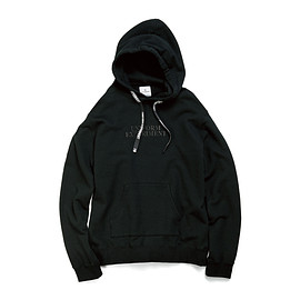 uniform experiment - EMBROIDERY LOGO PULL OVER HOODY