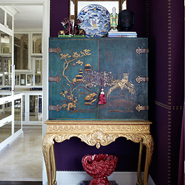 Lovable Chinoiserie Kitchen : Purple Room Decoration