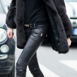 Fur and skiney leather