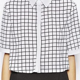 Lavish Alice - Lavish Alice Wrap Back Shirt in Grid Print