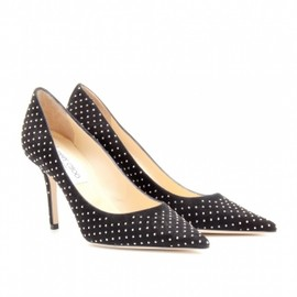 Jimmy Choo - 2013/PRE FALL■AGNES STUDDED SUEDE PUMPS Black&Silver 1