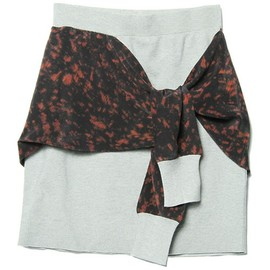 3.1 Phillip Lim - 3.1 Phillip Lim WOMEN(フィリップリムウィメン)の1/2 Milano skirt with spotted pony silk combo(スカート)|ライトグレー