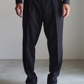 RAINMAKER KYOTO - 2TUCK TROUSERS / BLACK