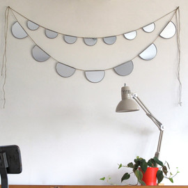 fluxglass - Mirror Bunting Small Half Circle Banner Garland