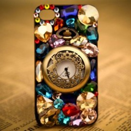 iphone case - Unique Fashion Rhinestone Retro Watch Hard Cover Protective Case For Iphone 4/4s/5