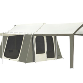 KODIAK CANVAS - 12x9 ft. 6-person Canvas Cabin Tent with Deluxe Awning