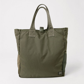 URBAN RESEARCH, LOWERCASE, PORTER - TRAVEL COUTURE by LOWERCASE - Tote Bag (Olive)