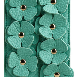 Burberry - iPhone 5/5s Case in Leather with Flowers