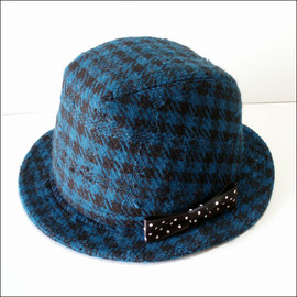 hattrick - blueblack*check-hat