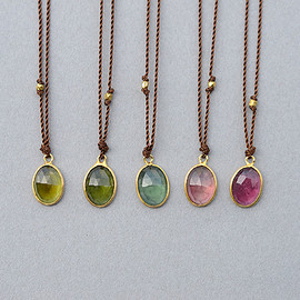 Margaret Solow - Enclosed Small Oval Tourmaline Necklace