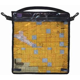 "Loksak - SPLASHSAK Map Case with Shoulder/Waist Strap, 12 x 12"", Clear"