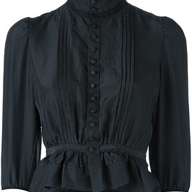 Dsquared2 - 'Victorian' high collar blouse