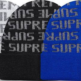 Supreme - Reflective Repeat Beanie