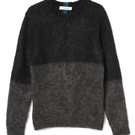 johnUNDERCOVER - Mohair Sweater (bk X gry)